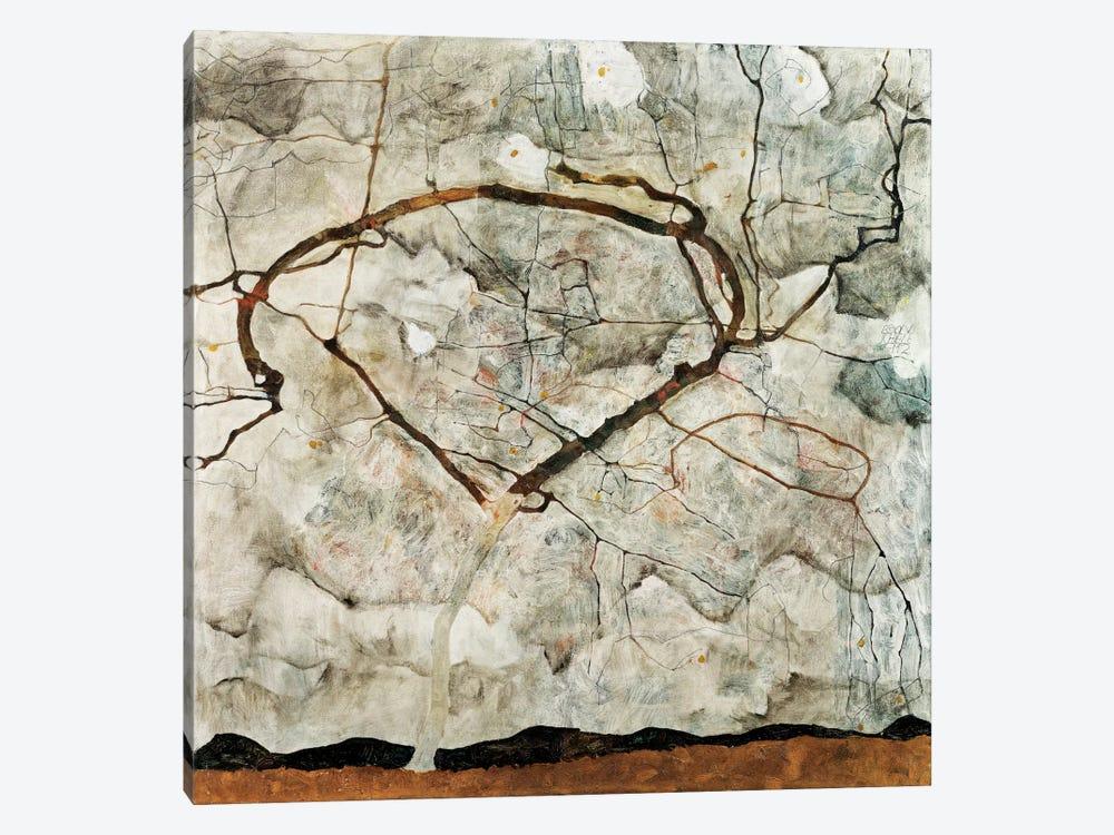 Autumn Tree in Movement by Egon Schiele 1-piece Canvas Art Print