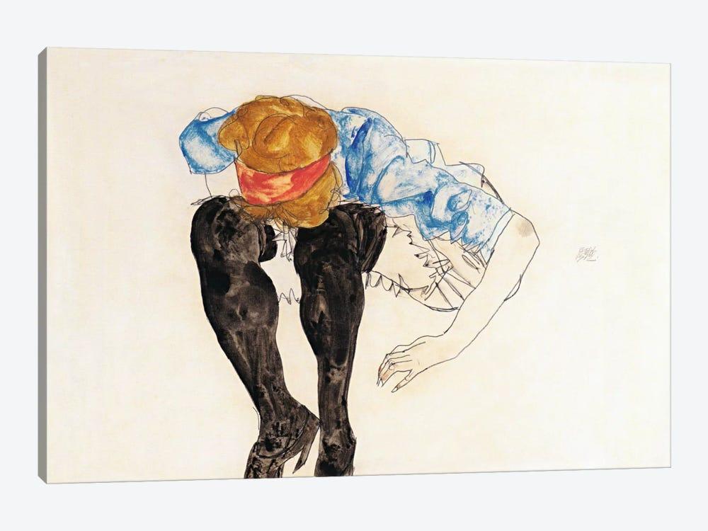 Blonde, Prevented Black Strupfen by Egon Schiele 1-piece Canvas Art
