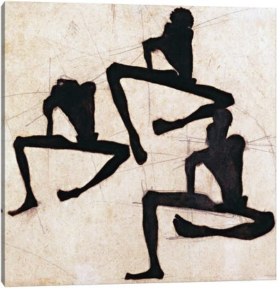 Composition with Three Male Nudes Canvas Art Print