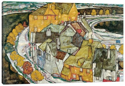 Crescent of Houses II (IslandTown) Canvas Art Print