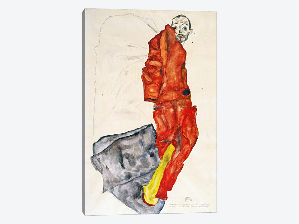 Hindering the Artist is a Crime, It is Murdering Life in the Bud by Egon Schiele 1-piece Canvas Print