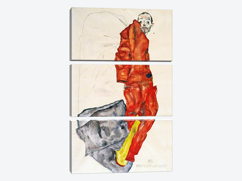 Hindering the Artist is a Crime, It is Murdering Life in the Bud by Egon Schiele 3-piece Canvas Art Print
