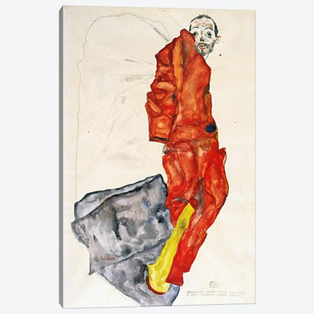 Hindering the Artist is a Crime, It is Murdering Life in the Bud Canvas Print #8205} by Egon Schiele Canvas Art Print