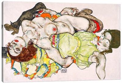 Female Lovers Canvas Art Print