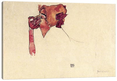 Gerti Schiele with Hair Bow Canvas Print #8218