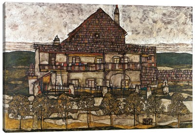 House with Shingle Roof (Old House) Canvas Art Print