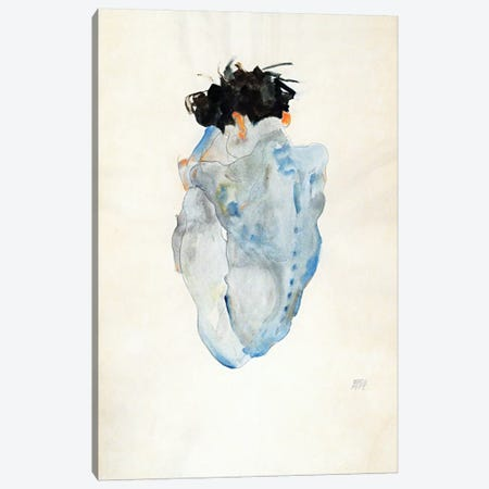 Crouching Canvas Print #8231} by Egon Schiele Canvas Art Print