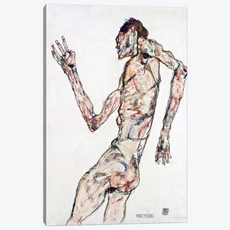 The Dancer Canvas Print #8242} by Egon Schiele Canvas Artwork