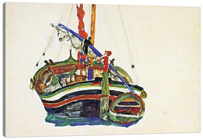 Trieste Fishing Boat Canvas Art Print