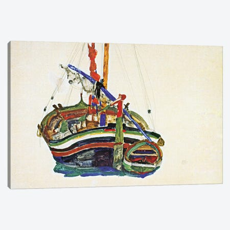 Trieste Fishing Boat Canvas Print #8245} by Egon Schiele Canvas Art Print