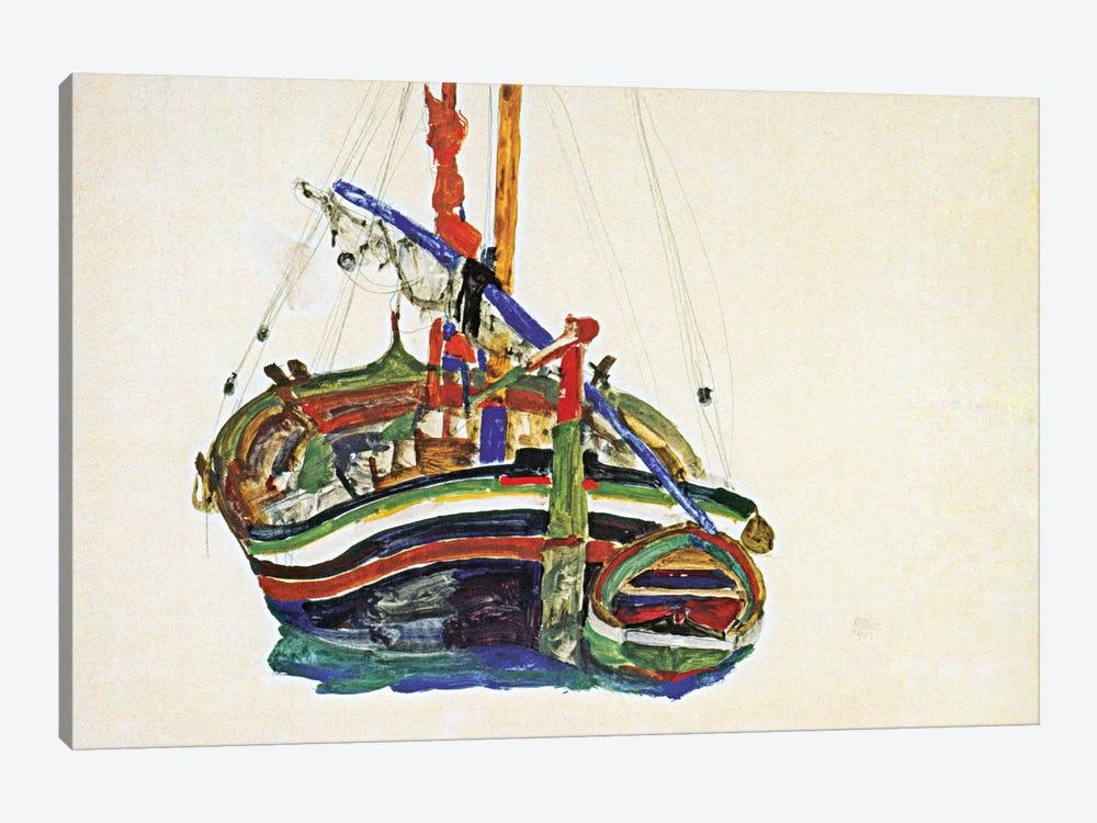 Trieste Fishing Boat by Egon Schiele 1-piece Canvas Print