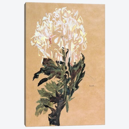 White Chrysanthemum Canvas Print #8246} by Egon Schiele Art Print