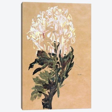 White Chrysanthemum 3-Piece Canvas #8246} by Egon Schiele Art Print