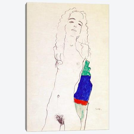 Standing Female Nude Canvas Print #8249} by Egon Schiele Canvas Artwork