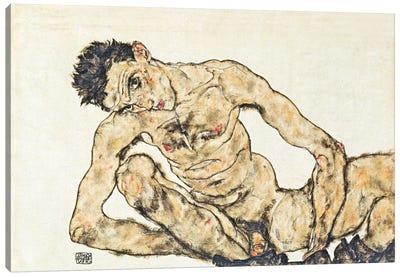 Nude Self-Portrait Canvas Art Print