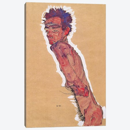 Self Portrait Nude Canvas Print #8251} by Egon Schiele Canvas Art Print
