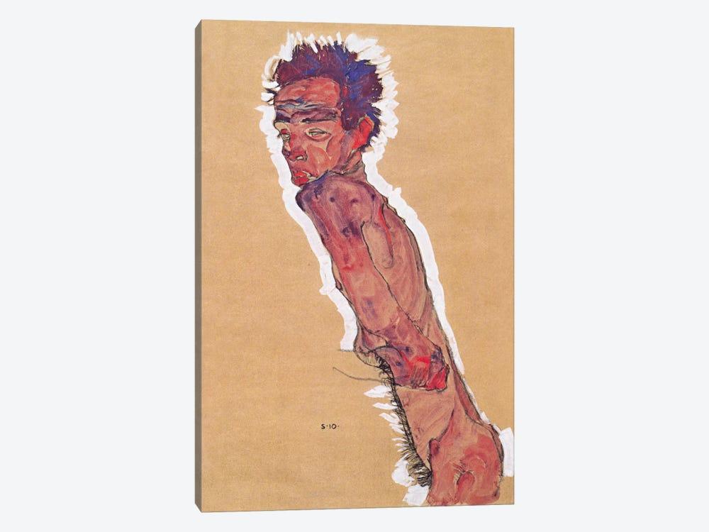 Self Portrait Nude by Egon Schiele 1-piece Canvas Art