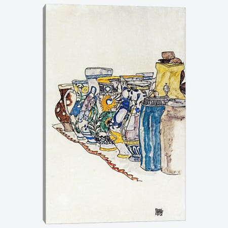 Bauer Painted Jugs Canvas Print #8252} by Egon Schiele Canvas Art Print