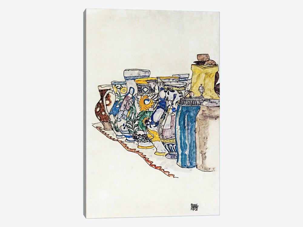 Bauer Painted Jugs by Egon Schiele 1-piece Canvas Art Print