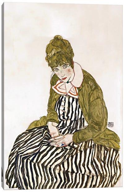 Edith Schiele, Seated Canvas Print #8256