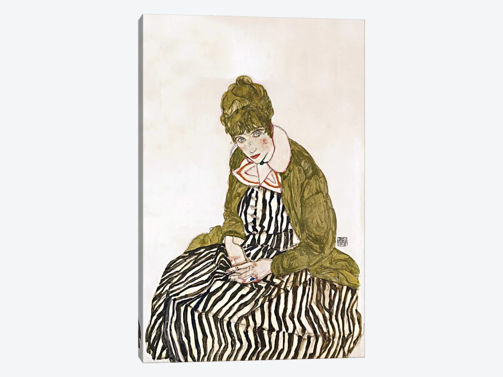 Edith Schiele, Seated by Egon Schiele 1-piece Art Print