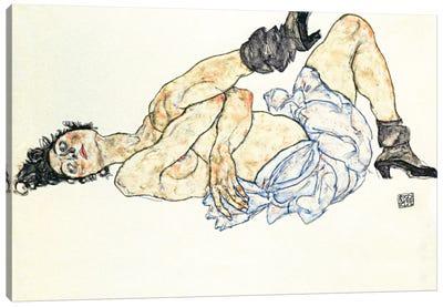 Reclining Female Nude 2 Canvas Print #8259