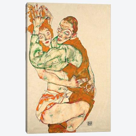 Love Making Canvas Print #8260} by Egon Schiele Canvas Artwork