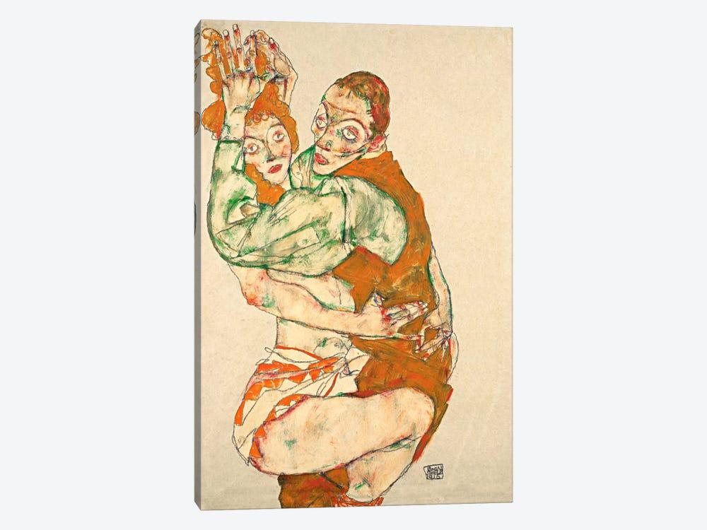 Love Making by Egon Schiele 1-piece Canvas Artwork