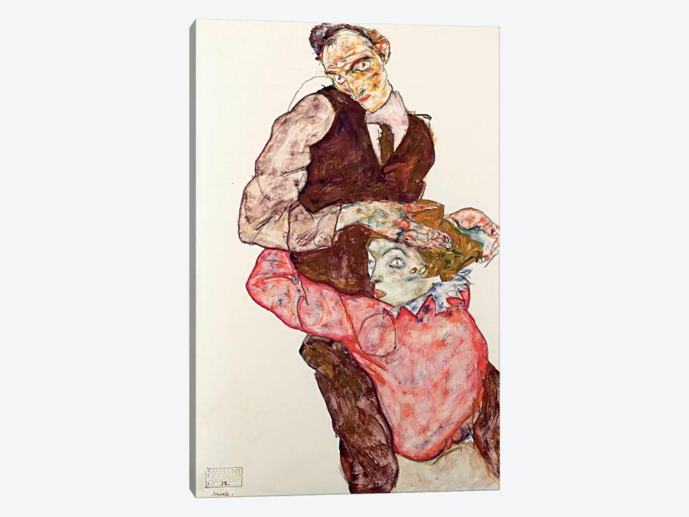 Lovers by Egon Schiele 1-piece Canvas Art Print