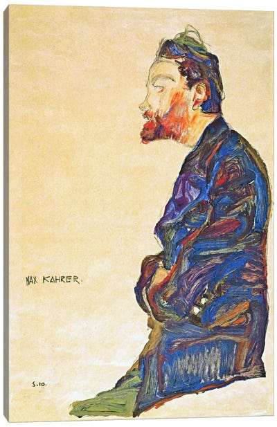 Max Kahrer in Profile Canvas Art Print