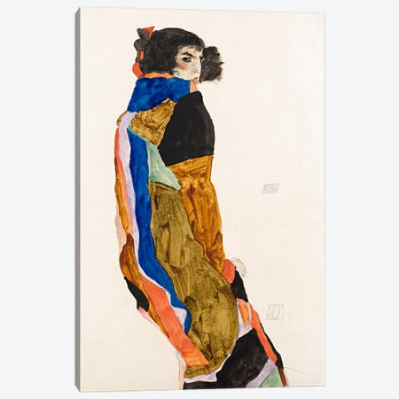 The Dancer Moa Canvas Print #8265} by Egon Schiele Art Print