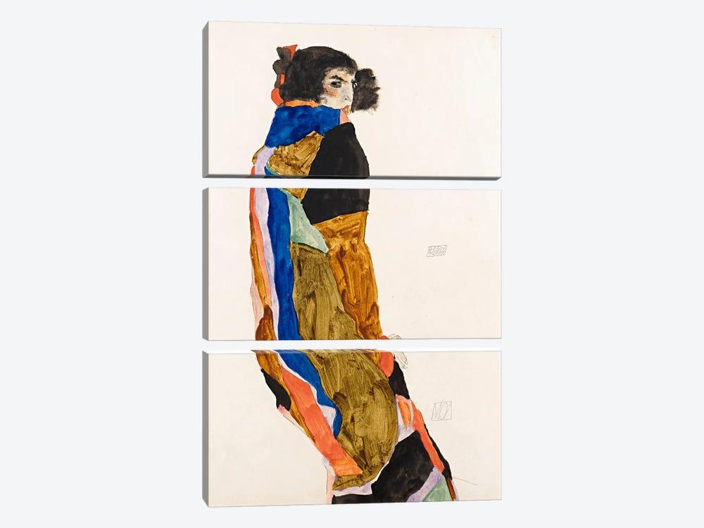 The Dancer Moa by Egon Schiele 3-piece Canvas Print