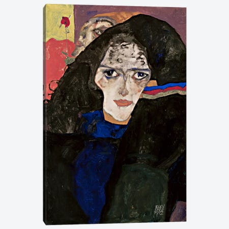 MourningWoman Canvas Print #8267} by Egon Schiele Canvas Print