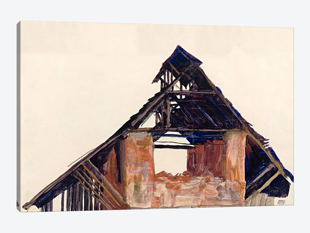 Old Gable by Egon Schiele 1-piece Art Print