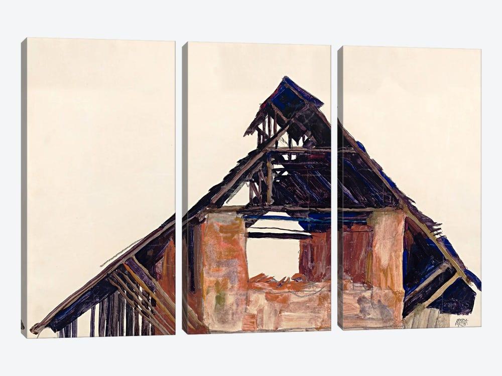 Old Gable by Egon Schiele 3-piece Art Print