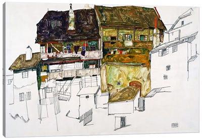 Old Houses in Krumau Canvas Art Print