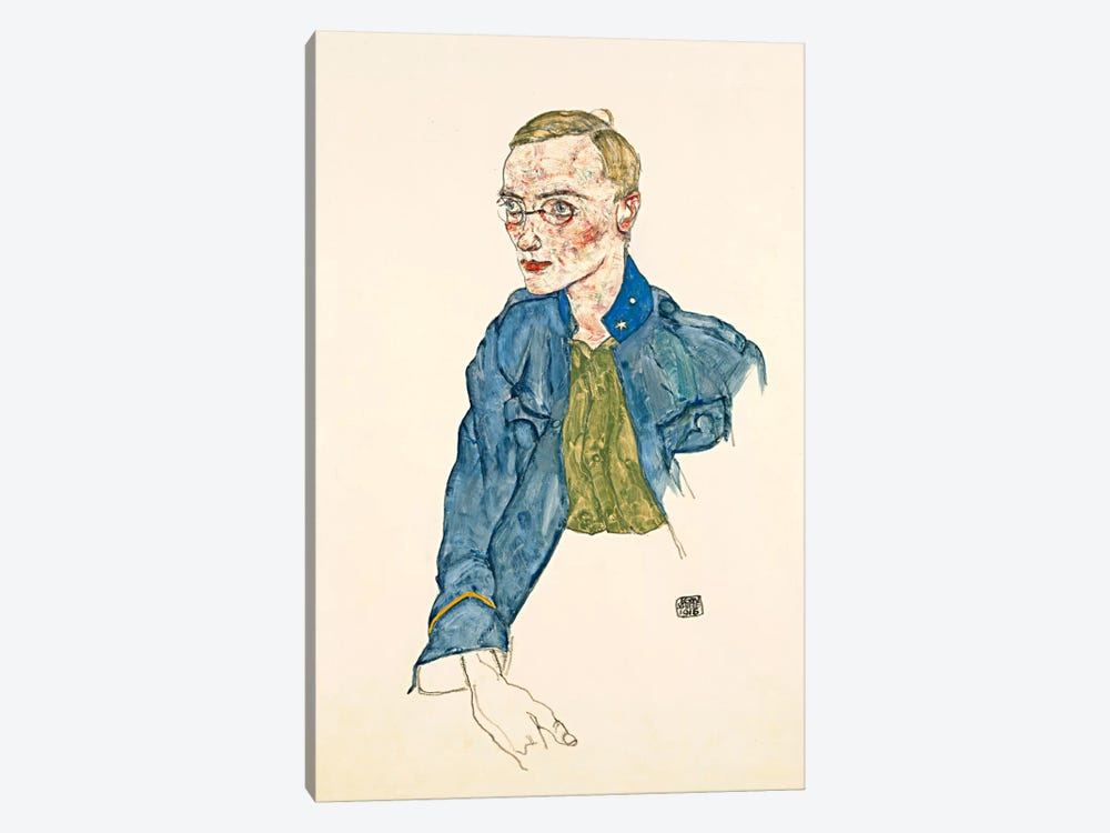 One Year Volunteer Lance Corporal by Egon Schiele 1-piece Art Print