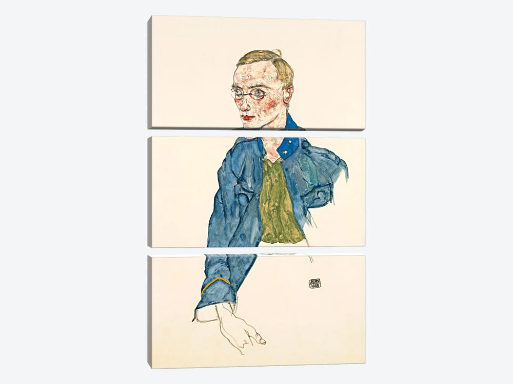 One Year Volunteer Lance Corporal by Egon Schiele 3-piece Art Print