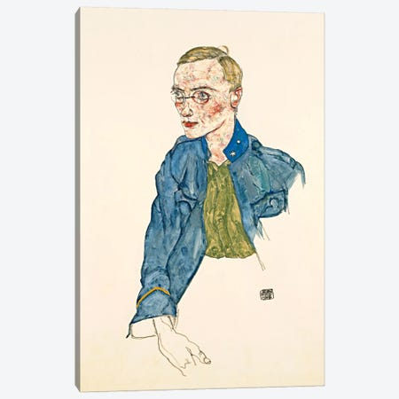 One Year Volunteer Lance Corporal Canvas Print #8274} by Egon Schiele Canvas Art