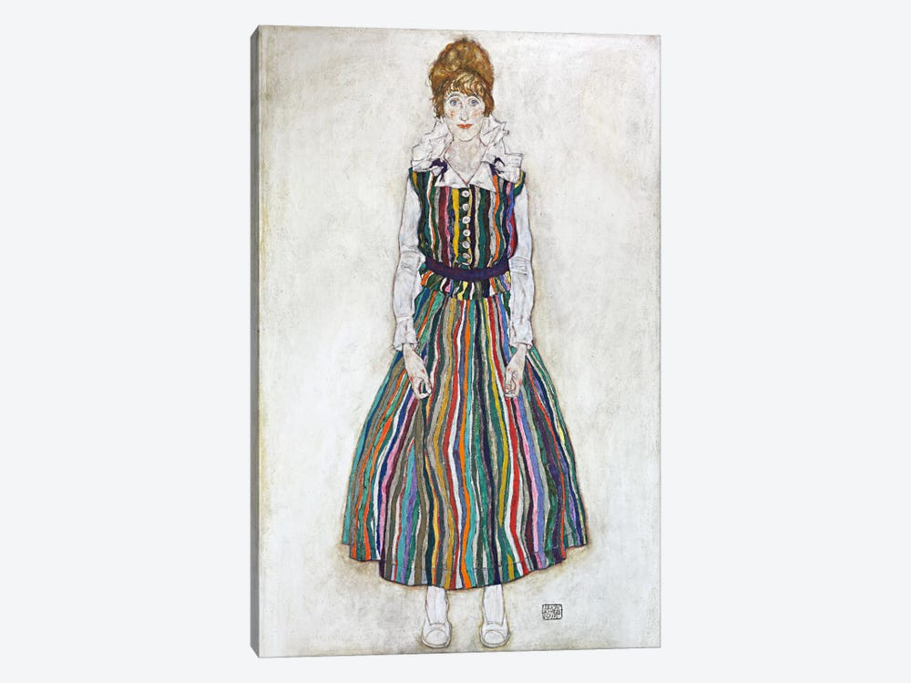 Portrait of Edith (The Artist's Wife) by Egon Schiele 1-piece Canvas Wall Art