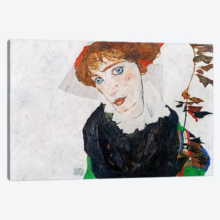 Portrait of Wally Neuzil Canvas Print #8277} by Egon Schiele Canvas Artwork