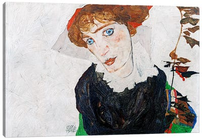 Portrait of Wally Neuzil Canvas Art Print
