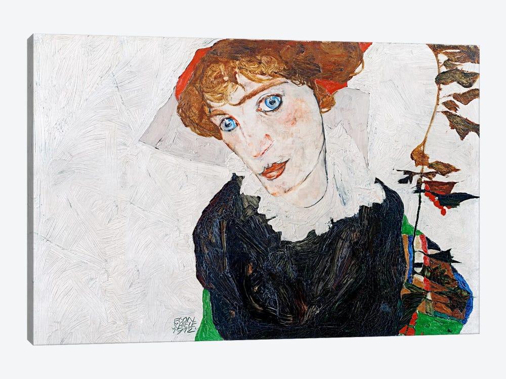 Portrait of Wally Neuzil by Egon Schiele 1-piece Canvas Artwork