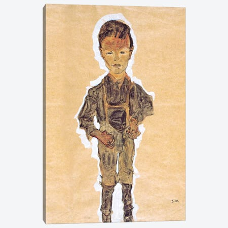 Worker (Boy) Canvas Print #8278} by Egon Schiele Art Print