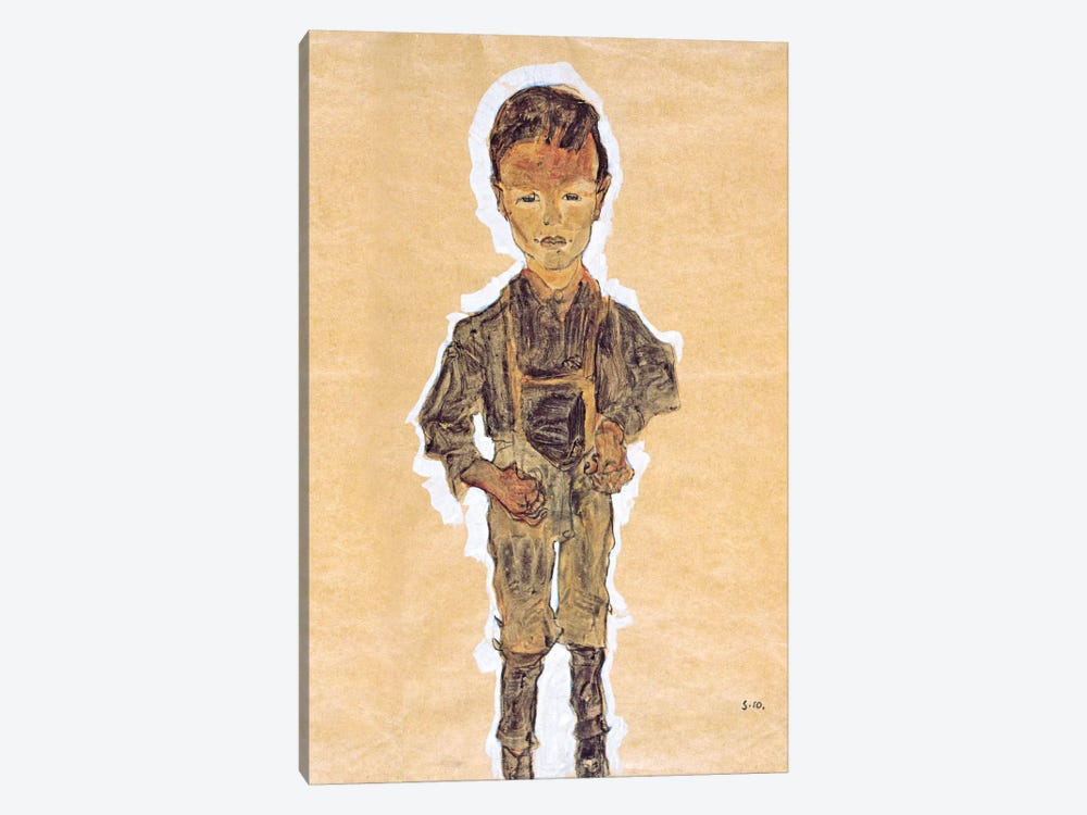 Worker (Boy) by Egon Schiele 1-piece Art Print