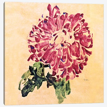 Red Chrysanthemum Canvas Print #8280} by Egon Schiele Canvas Art