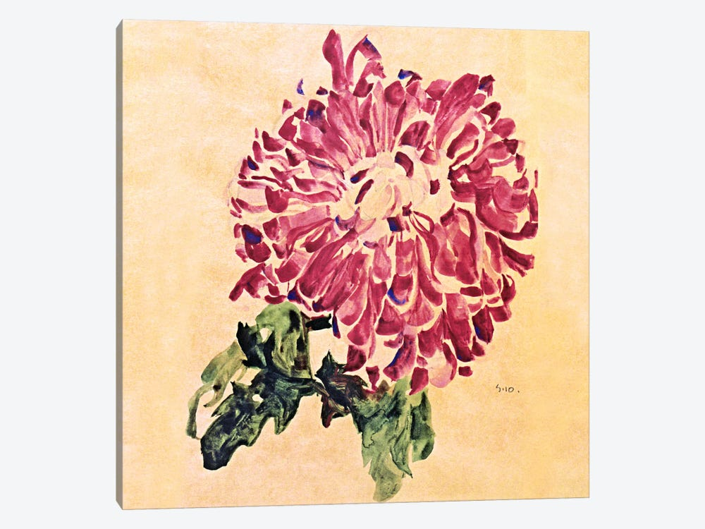 Red Chrysanthemum by Egon Schiele 1-piece Canvas Artwork