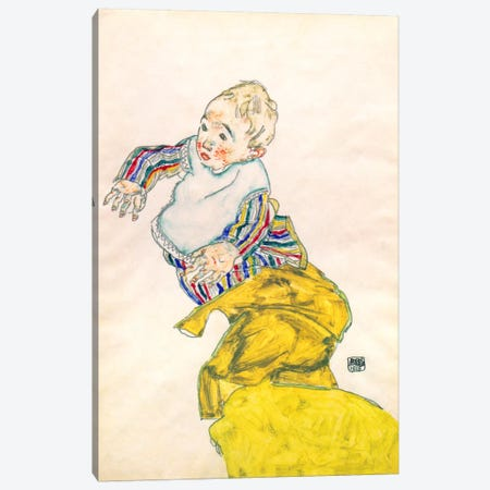 Schiele's Nephew Anton Peschka Canvas Print #8281} by Egon Schiele Canvas Art