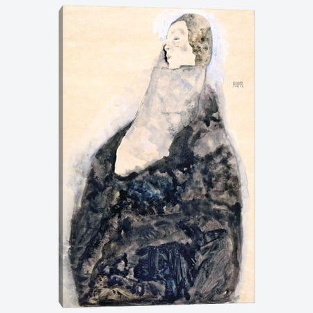 Sleeping Canvas Print #8283} by Egon Schiele Canvas Wall Art
