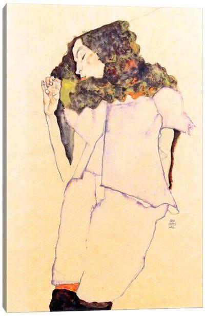 Sleeping Girl Canvas Art Print